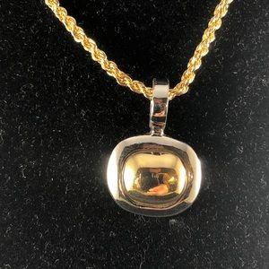 Premier Designs Gold & Silver Pendant w/ Chain